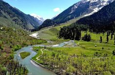 Pahalgam - Jammu & Kashmir. This is the most beautiful valley and we spent many happy hours here.