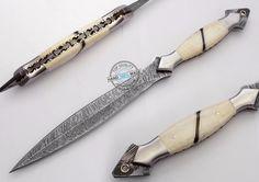 "12.50"" Custom Made Beautiful Damascus Steel Commando Dagger Knife (FSL-087-22) #UltimateWarrior"