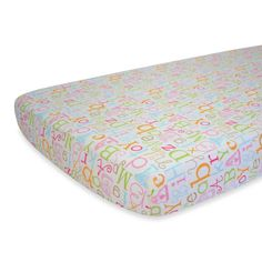 Paige's sheet??   Nurture Imagination™ Mix & Match ABC Print Fitted Crib Sheet in Pink