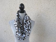Fabric scarf Infinity scarf tube scarf eternity by FootlessDesigns