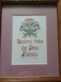 Sisters - Cross Stitch (Handmade)