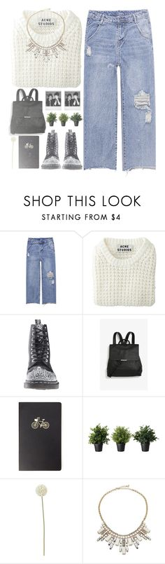 """""""*the wolf among us*"""" by my-black-wings ❤ liked on Polyvore featuring Acne Studios, Dr. Martens, Monki, Polaroid, Forever 21, CB2 and ABS by Allen Schwartz"""