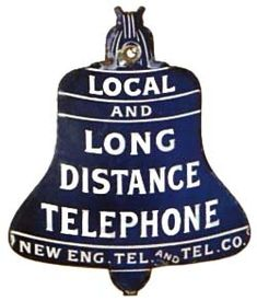 A history of the development of the AT&T Blue Bell telephone sign. Telephone Booth, Vintage Telephone, Visual Merchandising, Gossip Bench, Retro Phone, Phone Books, Phone Companies, Old Phone, Old Signs