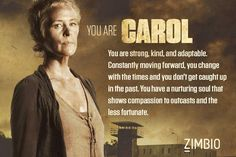 Which The Walking Dead character are you? http://m.zimbio.com/quiz/cSHb9pVhQDp/Walking+Dead+Character/result/jKtF-Wf1781