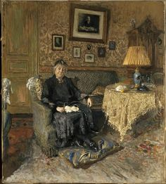 Édouard Vuillard - Madame Adrien Benard in her Salon, 1928/29