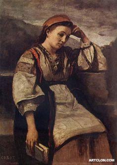 Reverie  Met Museum of New York  Jean Baptiste Camille Corot