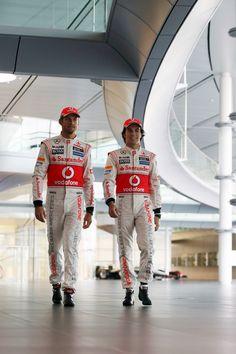 #5 Jenson Button, Driver and #6 Sergio Perez, Driver, Vodafone McLaren Mercedes MP4-28