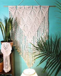 Pretty soon I'll introduce the small copy of this big beauty to you. This one is available in my shop. #macrame #macrameda #macramelove…
