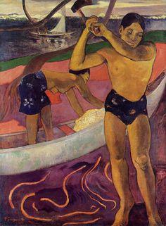 Paul Gauguin ~ A Man with Axe, 1891