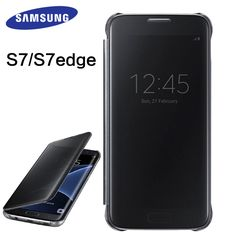 check price samsung galaxy s7 s7 edge case mirror clear view smart cover 100 original #transparent #business #cards