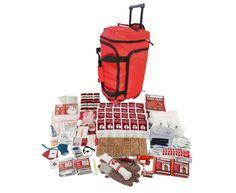 2 Person Guardian Elite Survival Kit in Red Wheel Bag