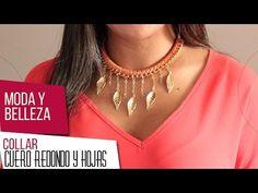 Como hacer gargantilla en cuero tejido y herrajes de hojas Kit 26715 | VARIEDADES CAROL - YouTube