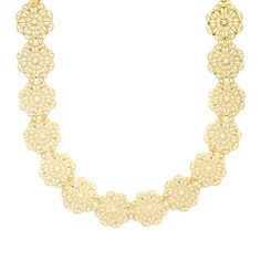 Gold Floral Filigree Medallions Choker Necklace | Claire's