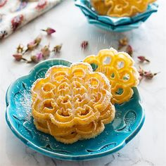 Nan Panjereh - #Persian Rosettes by @ShadiHasanzade - #KeepOnCooking #Bread #Desserts #Sweets #Snacks