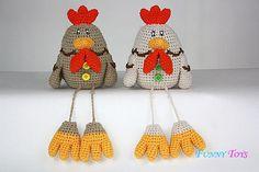 Pattern Crochet Chicken Easter toy crochet by Funnytoyshandmade