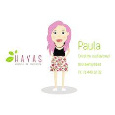 Paula - Creativa Audiovisual #equipo #hayas #madrid