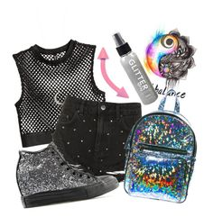"""""""Untitled #6"""" by ms-crowley on Polyvore featuring Topshop, Current Mood, Accessorize and Converse"""