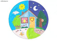 Art Drawings For Kids, Drawing For Kids, Light And Shadow, Night Light, Kindergarten, Education, Routine, November, Nature