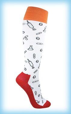 Näissä tukisukissa on pilleriä, nappeja, kapseleita ja ruiskua jos jonkinmoista.  #tukisukat Socks, Fashion, Moda, Fashion Styles, Sock, Stockings, Fashion Illustrations, Ankle Socks, Hosiery
