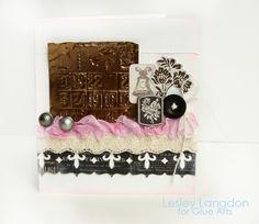 Wedding Bells Card by Designer @Lesley Langdon using #GlueArts Adhesives