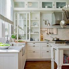 Happy Wednesday everyone!   I need help with my new kitchen... I'm back and forth on choosing the design for my backsplash and would ❤️your input.  The material will be a white Thassos marble tile... Now I just need to figure out what shape & design I want to look at for the next decade.  My choices are ~ ➡️ 3x6 flat subway (had this in my last kitchen - love, very classic) ➡️ 2x4 flat subway (cute yet classic) ➡️ 2x4 'bevel' subway (little busier with the bevel - like the backsplash in...