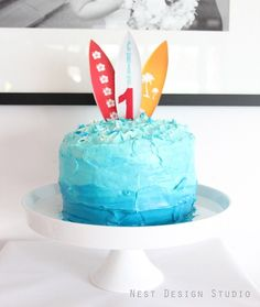 little surfer boy party - i love this cake