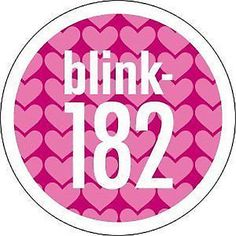 #Blink 182 pink #hearts logo #sticker new official merchandise rare punk rock,  View more on the LINK: 	http://www.zeppy.io/product/gb/2/172516926276/
