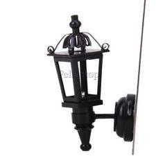 Metal Negro 1:12 LED Lámpara De Pared Modelo De Casa De Muñecas en Miniatura Dormitorio Porche Decoración