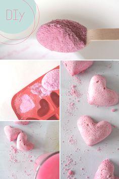 I ♥ Eco & Druantia: DIY bruishartjes met mandarijn en roze glitters