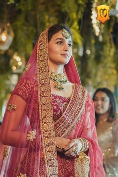 Alia Bhatt Becomes A Picture Perfect Bride As Manyavar Mohey Ropes Her In As Its Brand Ambassador - HungryBoo Indian Wedding Outfits, Bridal Outfits, Indian Outfits, Indian Weddings, Bridal Dresses, Bollywood Fashion, Bollywood Actress, Bollywood Celebrities, Bollywood Style