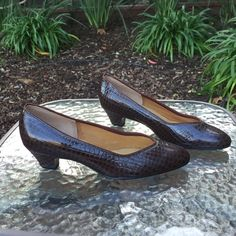 Little heeled brown Naturalizer shoe. This little brown heel Naturalizer shoe is great for work or a casual day.  Very comfortable. Naturalizer Shoes Heels