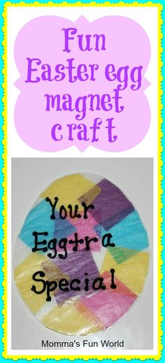 Easter Egg craft magnet or could use as we sun catcher