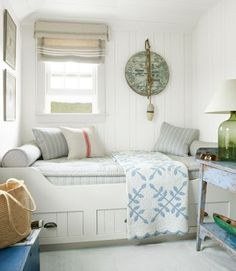 Coastal bedroom with nautical touches