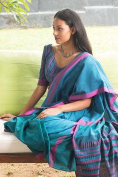 Fashion Market - Rose Tail - Sri Lankan Cotton Saree / Sari
