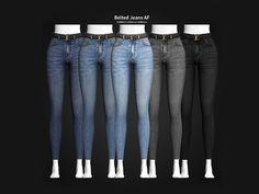 Belted Jeans AF - Madame Sims 4