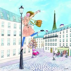 Paris Kunst, Paris Art, Gustave Eiffel, Illustration Parisienne, Illustration Art, Art Parisien, Pineapple Girl, Eiffel Tower Art, Paris Vintage