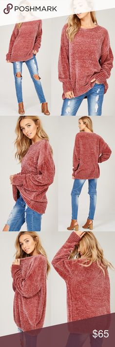 KELSEY Buttery Soft Sweater  - ROSE Dolman sleeve, loose fit buttery soft MUST HAVE for any sweater lover!  Oversized  AVAILABLE IN GREY, NAVY & ROSE  NO TRADE, PRICE FIRM Bellanblue Sweaters