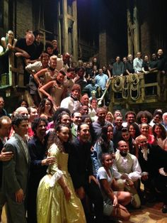 President Obama and his daughters Sasha & Malia took in the Broadway show Hamilton. They attended the matinee performance on 7/18/15. Here they are taking a picture with the cast.