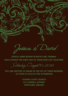Free Printable Wedding Invitations | Free Printable Wedding Invitations Personalized