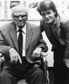 James Cagney and Michael J. Fox in NYC, 1985