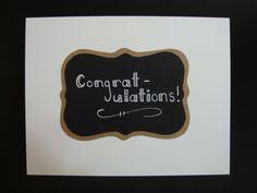 Congratulations chalkboard card by JellybeanArtCards on Etsy