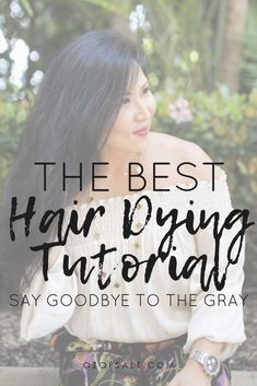 If you want to say goodbye to gray hair, here is my full hair dying tutorial on how to wash away the gray. See the step by step process I do to cover up those unwanted grays.  #ozofsalt #grayhair #hairdye #haircare #beauty #greyhairtutorial #hairdying
