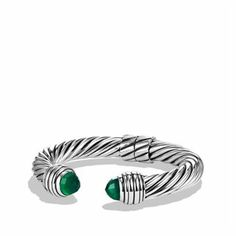 Cable Classics Bracelet with Green Onyx