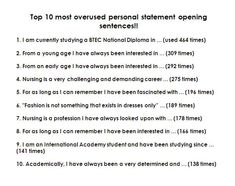 007 Pin by Personal Statement Sample on Personal Statement