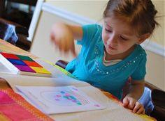 Quick Craft: #Easter Egg Thumbprint Card #craft #kids