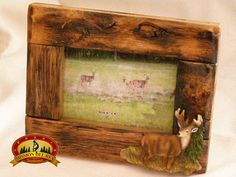Southwest Style Fir Root Picture Frame 4x6 Deer 20