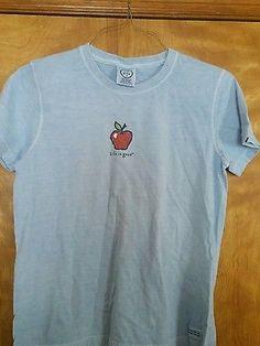 Woman's small Life Is Good 100% cotton Apple Tee Shirt