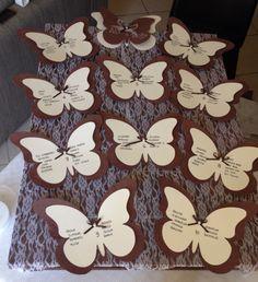 Tableau marriage! Pallet, pizzo e farfalle!!!