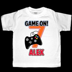 Hey, I found this really awesome Etsy listing at https://www.etsy.com/listing/193354270/personalized-video-game-birthday-shirt