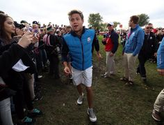 Niall today at the Ryder Cup Celebrity Tournament